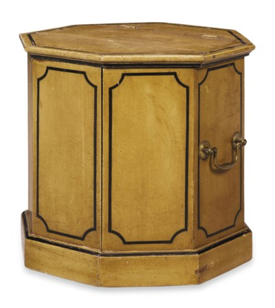 A VICTORIAN PAINTED OCTAGONAL
