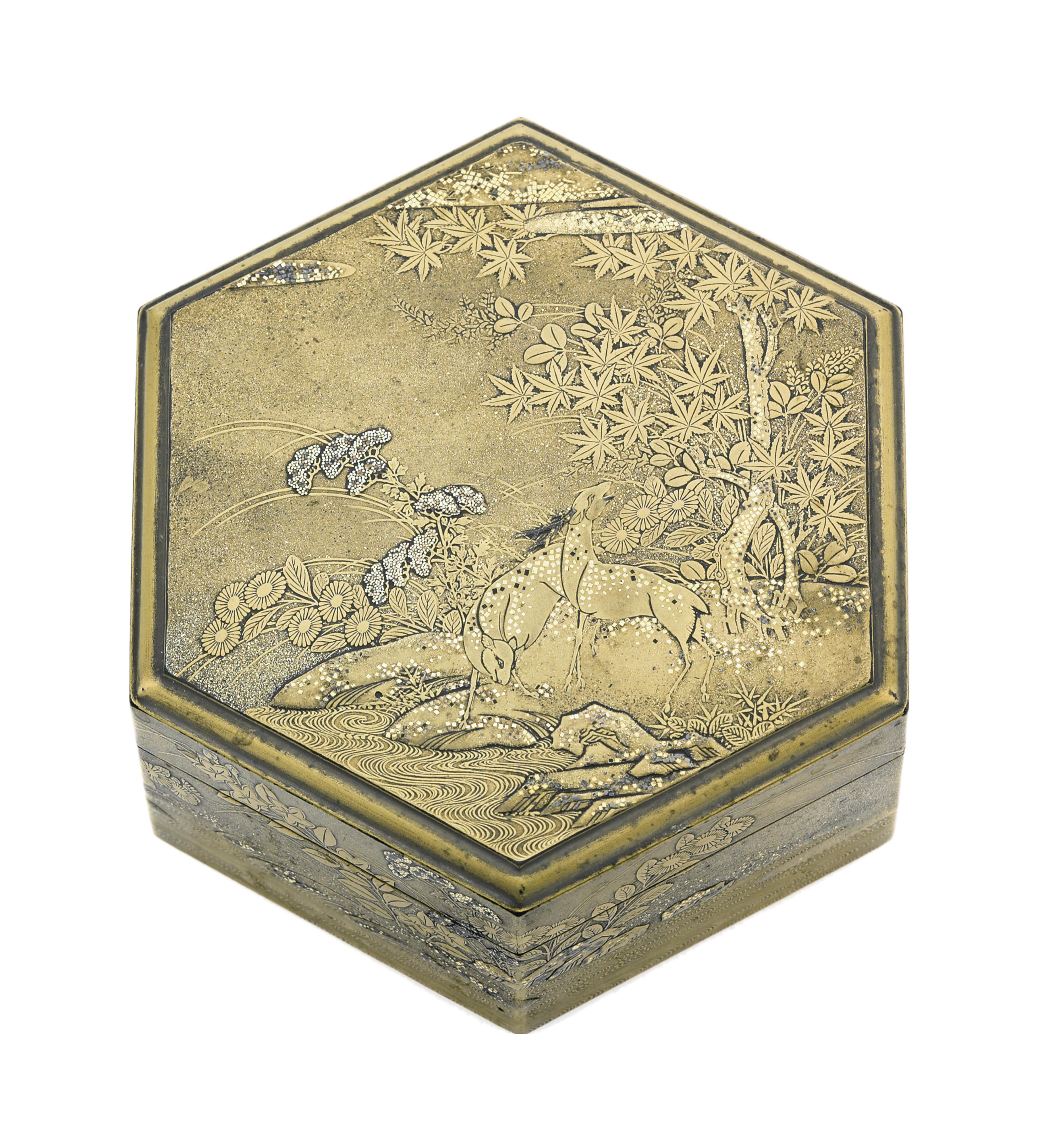 An Hexagonal Incense Box and C