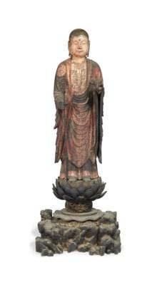 A Wood Sculpture of Jizo Bosat