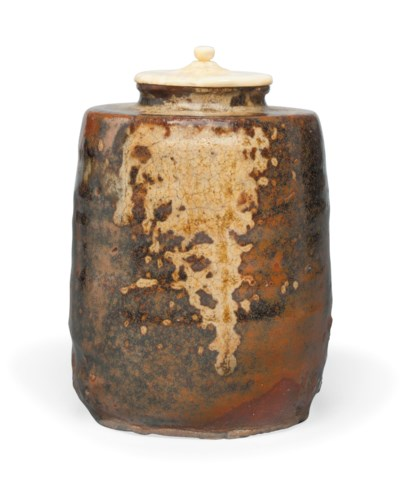 A Stoneware tea caddy [chaire]
