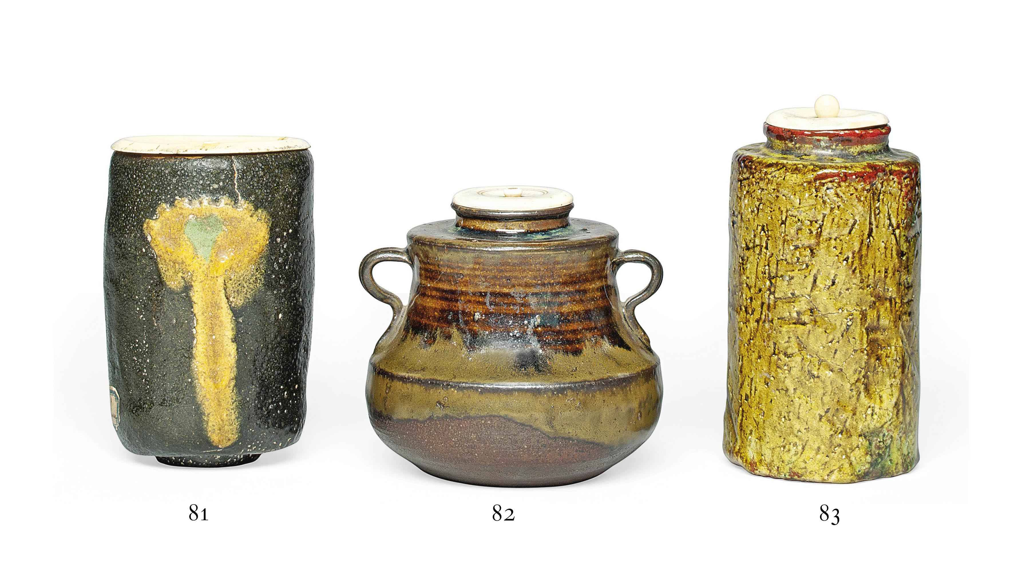 A Stoneware Tea caddy [chaire]