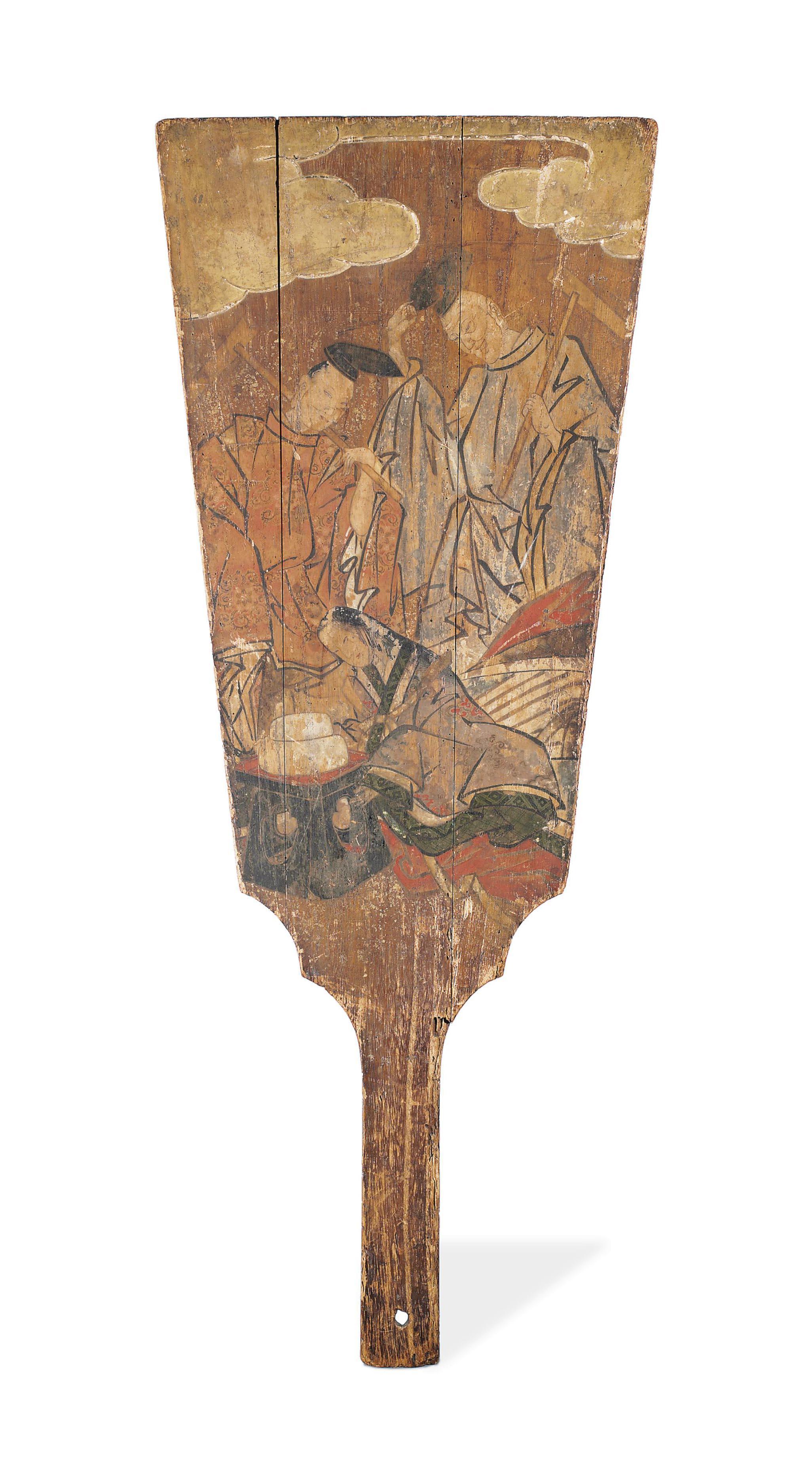 A Wood Hagoita [Battledore Rac