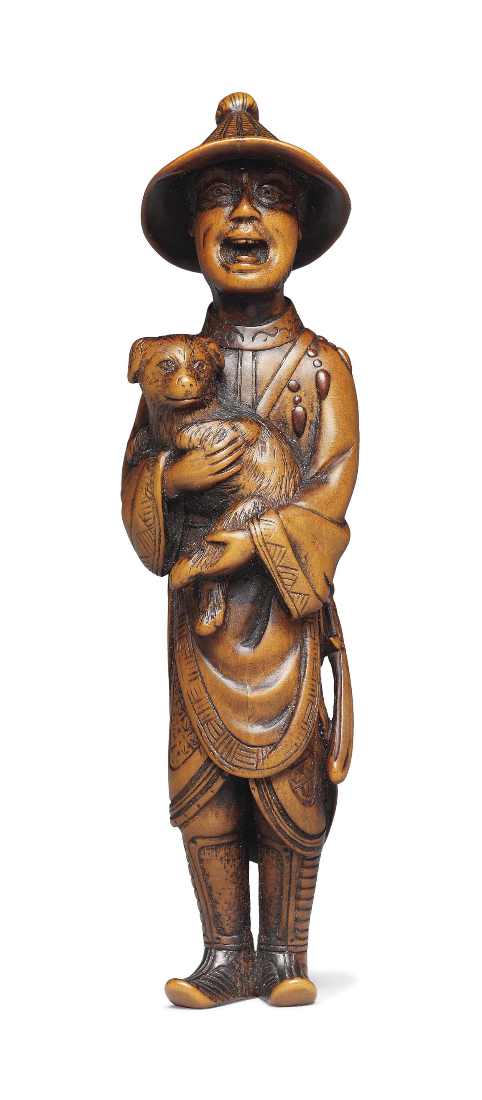 A Large Wood Netsuke