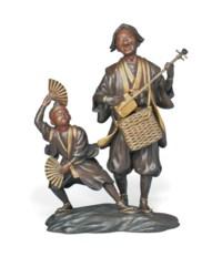 A Bronze Sculptural Ornament [Okimono]