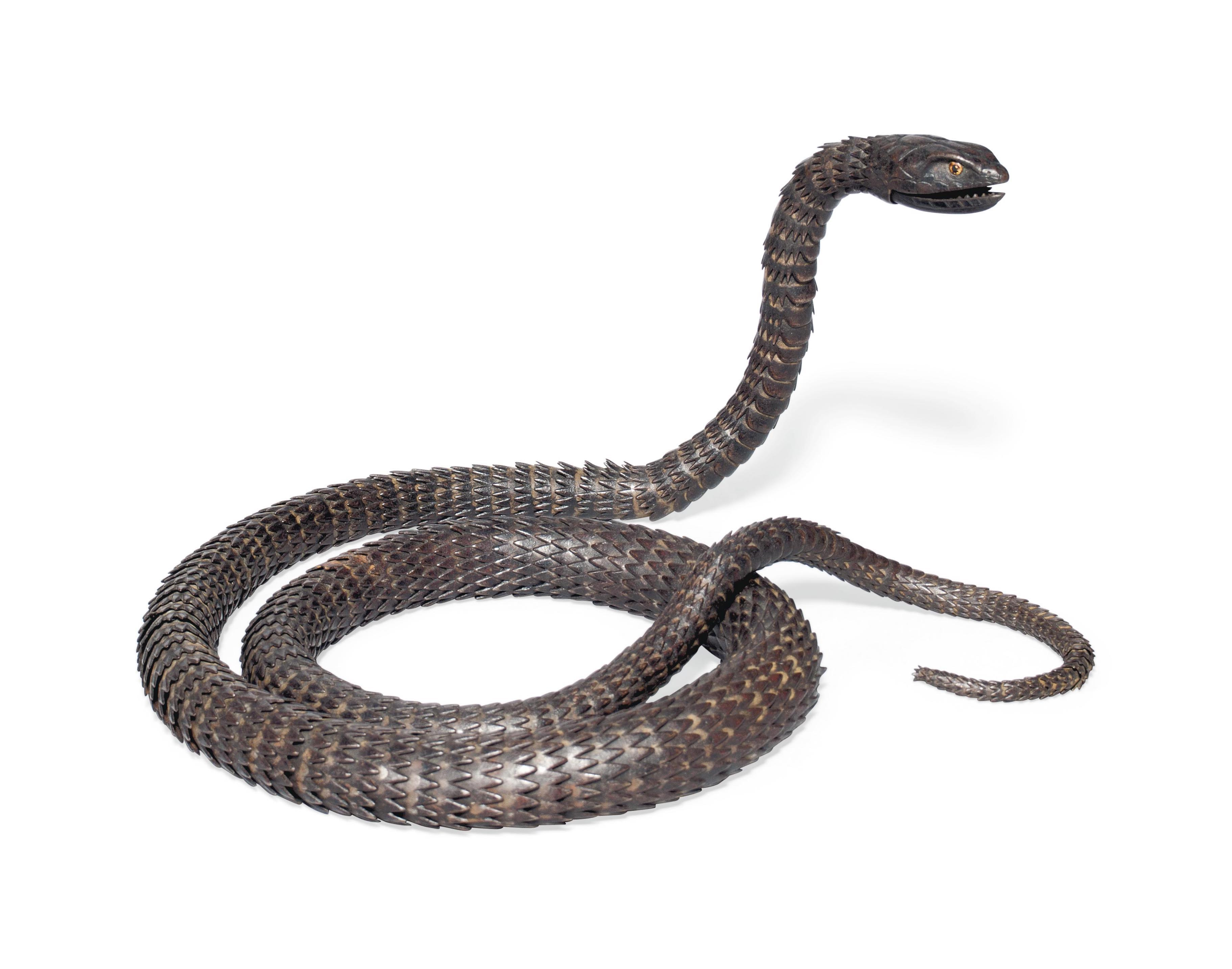 A Myochin-School Iron Articulated Model of a Snake