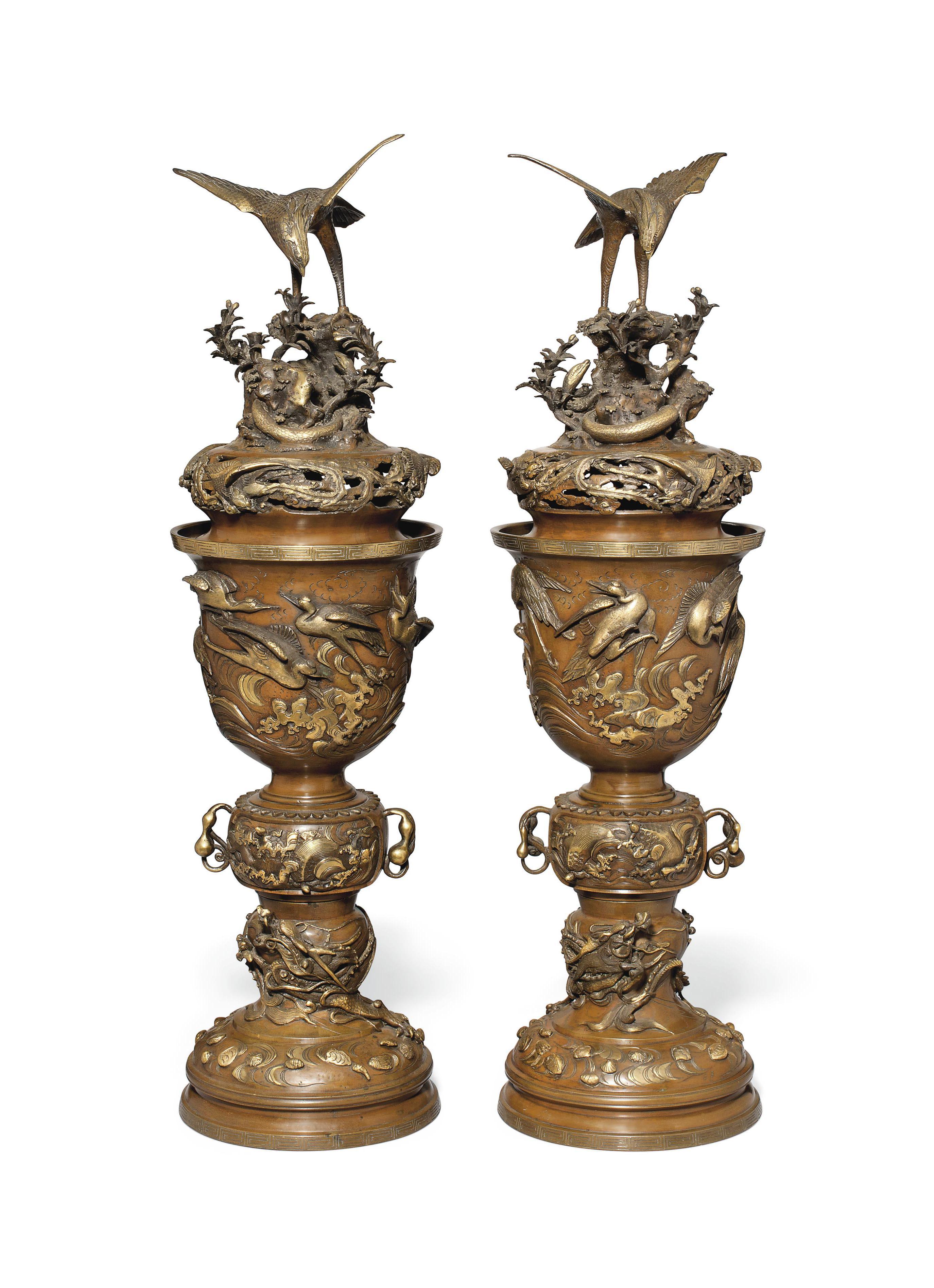 An Impressive Pair of Bronze I