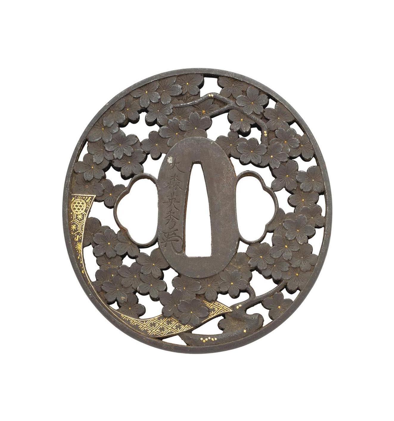 An Oval Iron Tsuba
