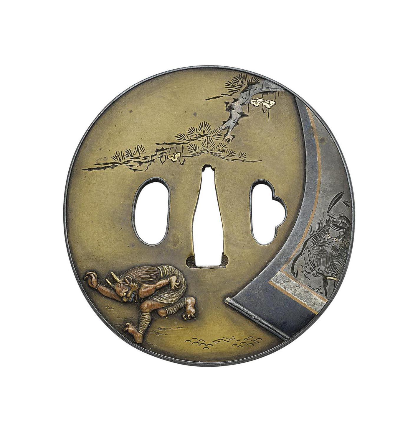 A Round Sentoku Tsuba