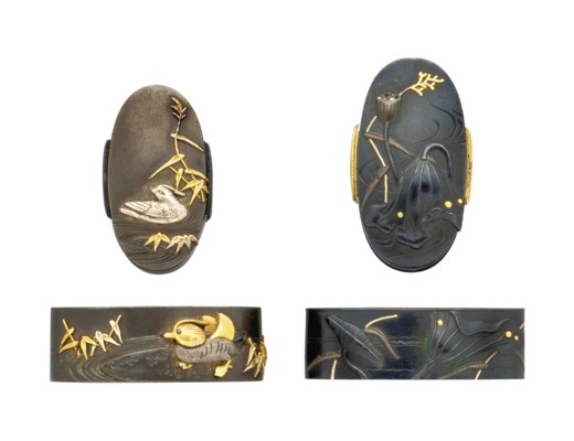 Three Pairs of Fuchi Kashira,