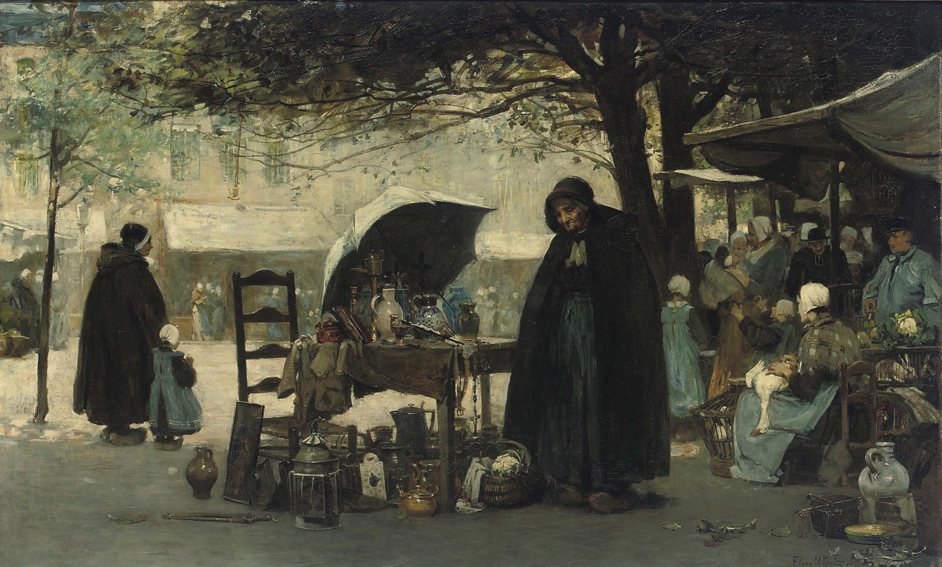 A Bruges market place