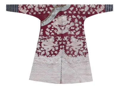 A BURGUNDY SILK SUMMER CHI'FU