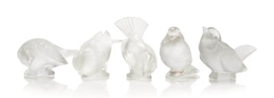 MOINEAU FIVE PAPERWEIGHTS, NOS