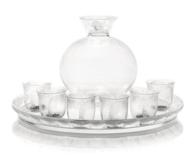 COQUELICOT DECANTER, GLASSES A