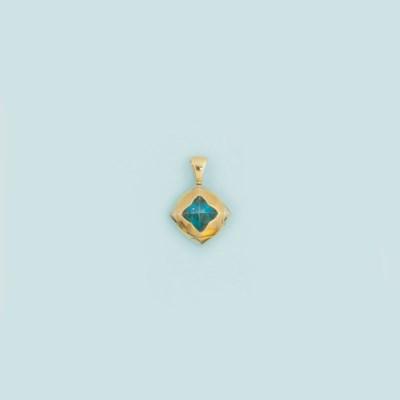 A topaz pendant, by Bulgari