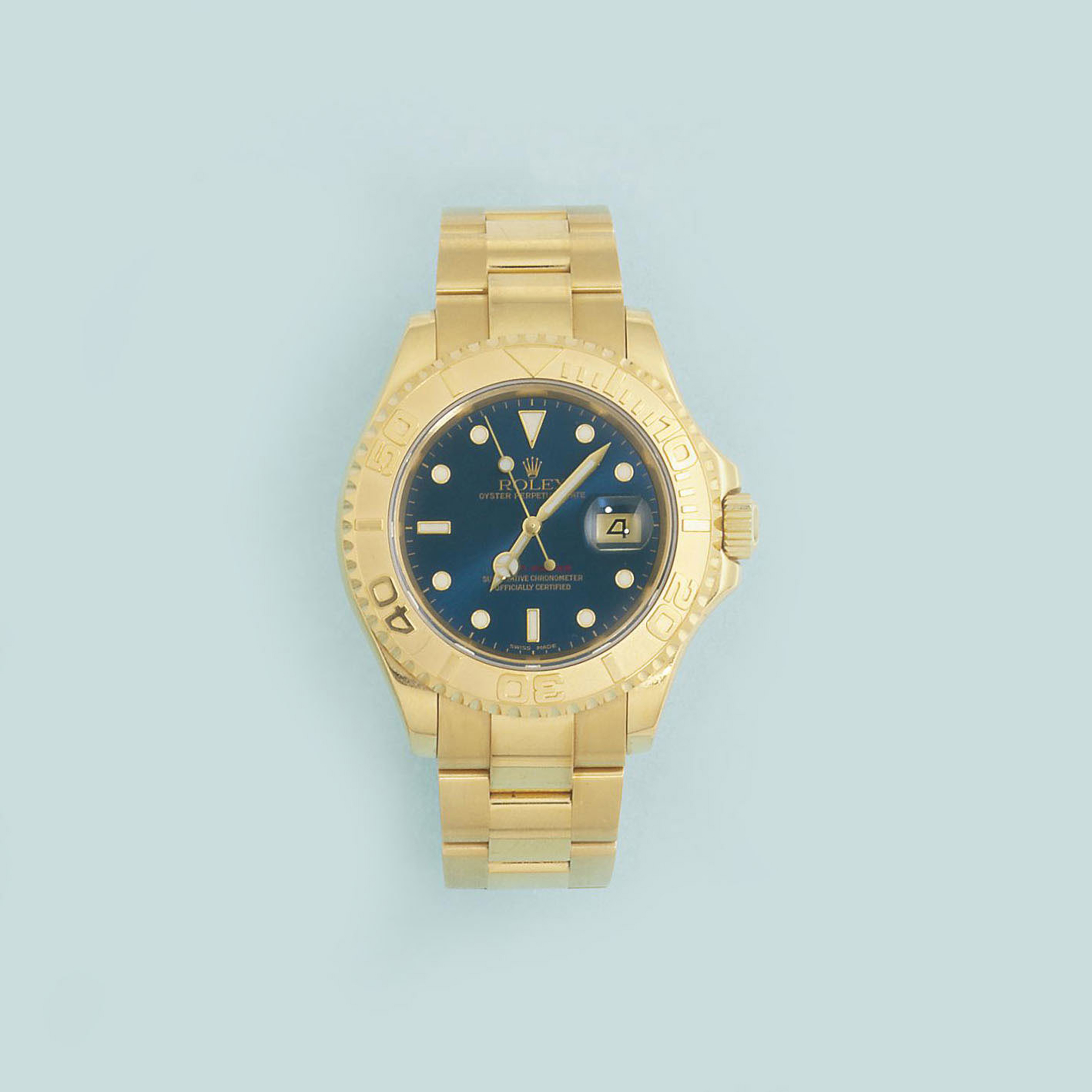 An 18ct. gold Oyster Perpetual Date Yacht-Master wristwatch, by Rolex