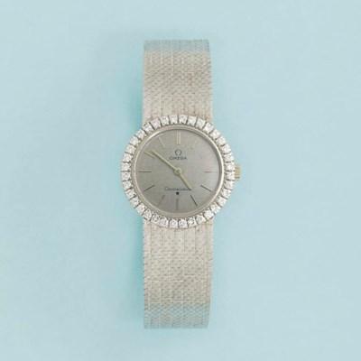 A diamond-set wristwatch, by O