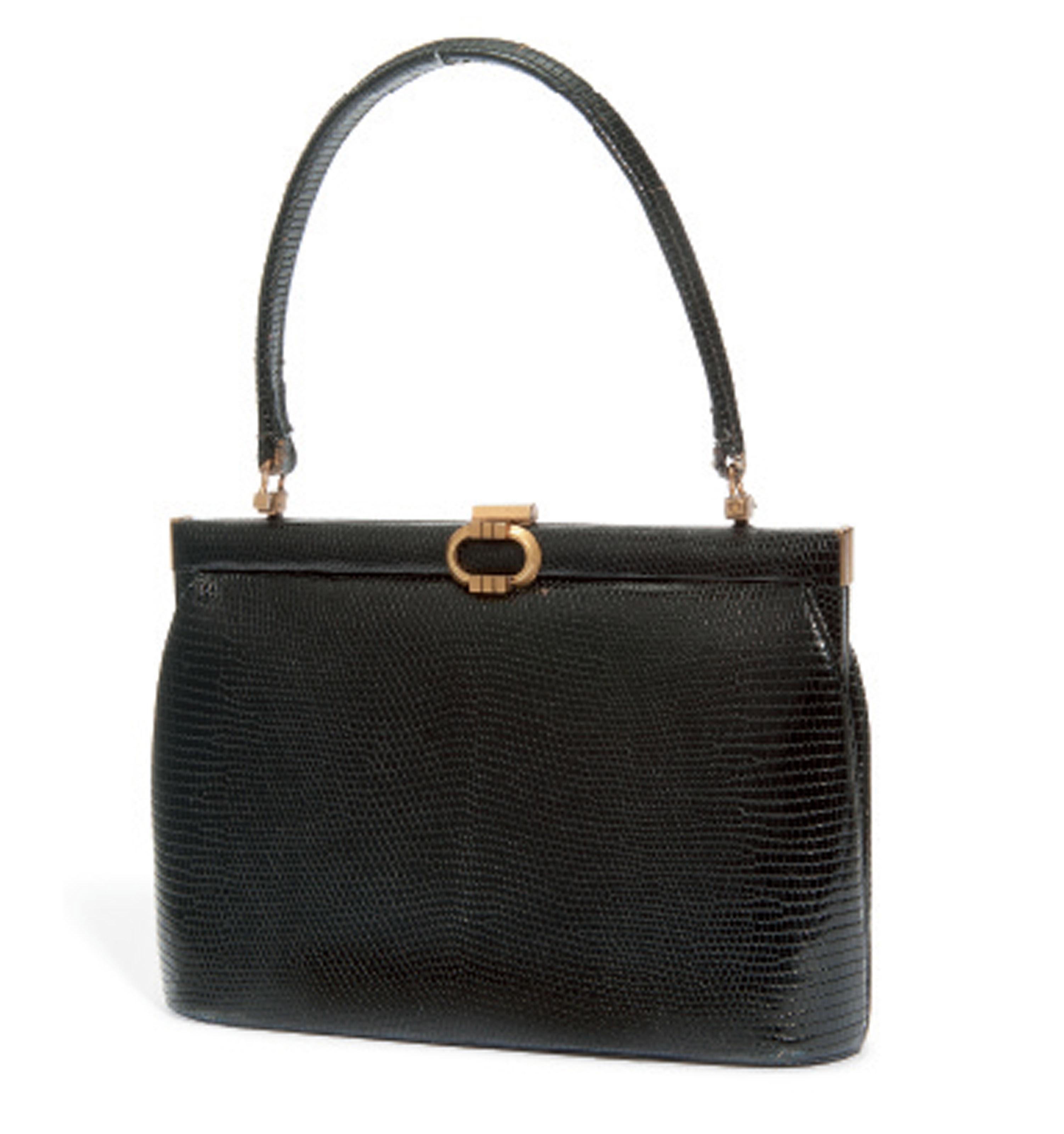 A BLACK LIZARD BAG