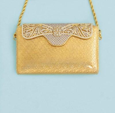 A diamond-set clutch bag