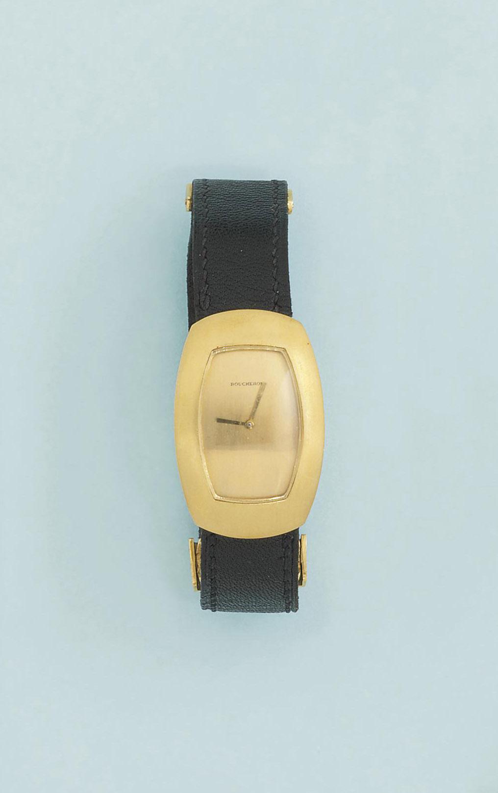 An 18ct. gold wristwatch, by B