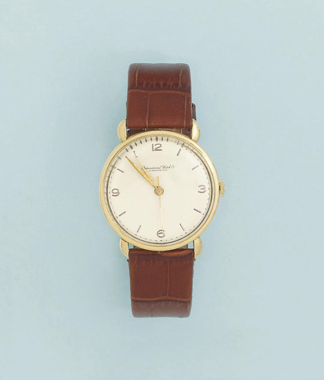 A wristwatch, by International Watch Co.