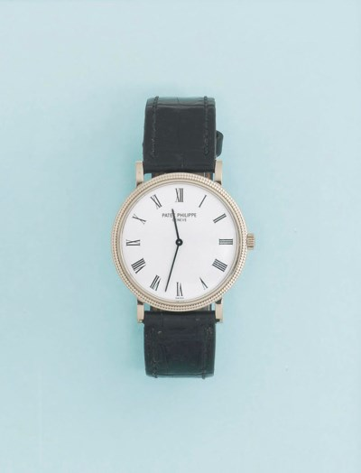 An 18ct. white gold, automatic