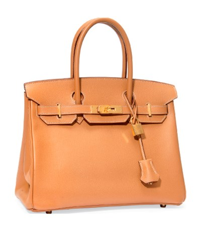 A CARAMEL LEATHER 'BIRKIN' BAG