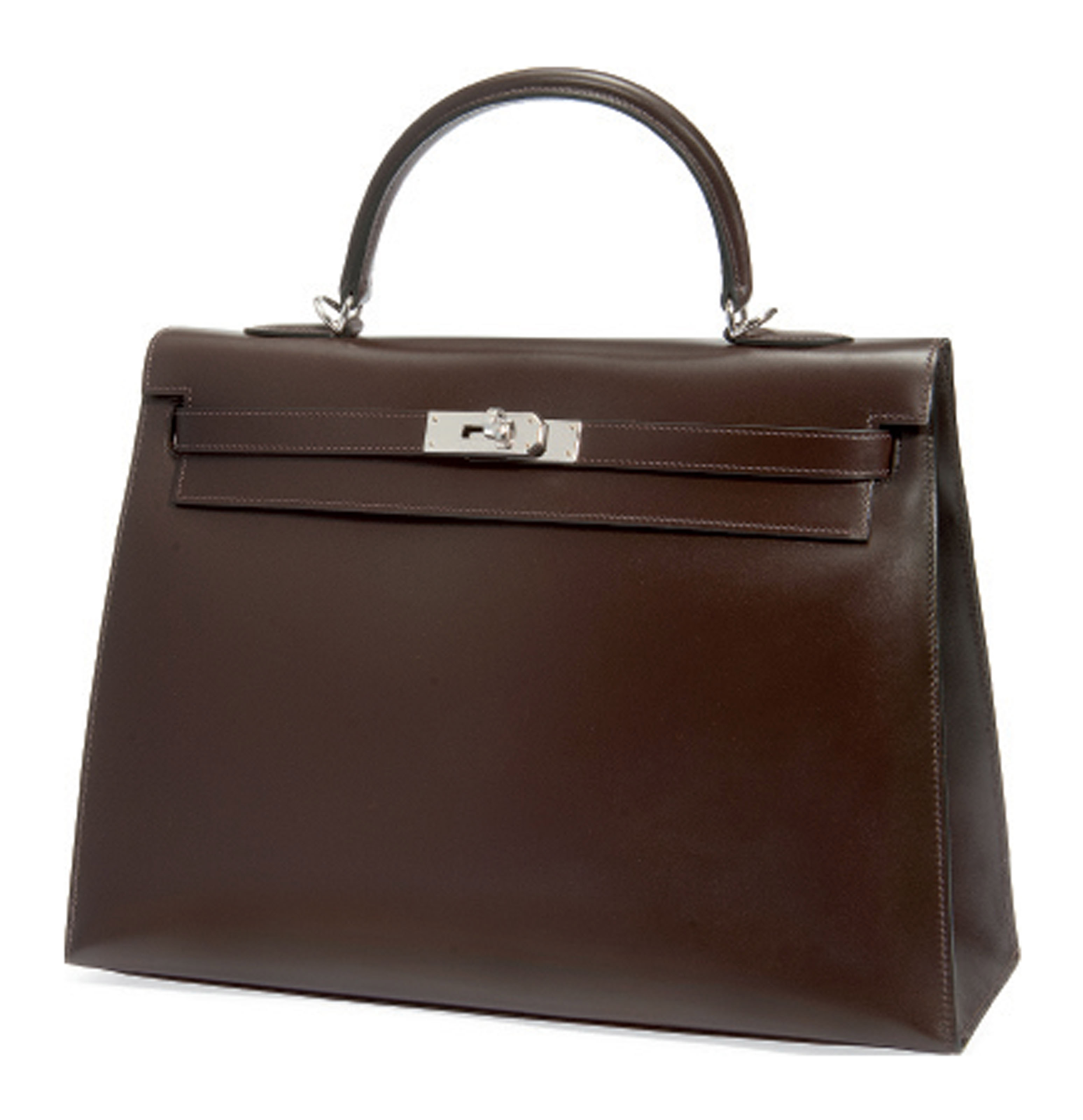 A CHOCOLATE BOX LEATHER 'KELLY