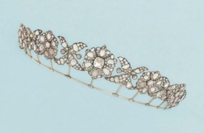 A 19th century diamond tiara/n