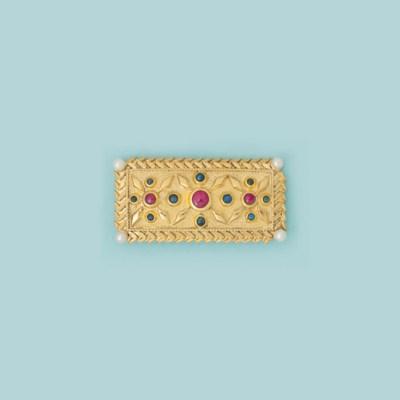 A gem-set brooch, by Lalaounis