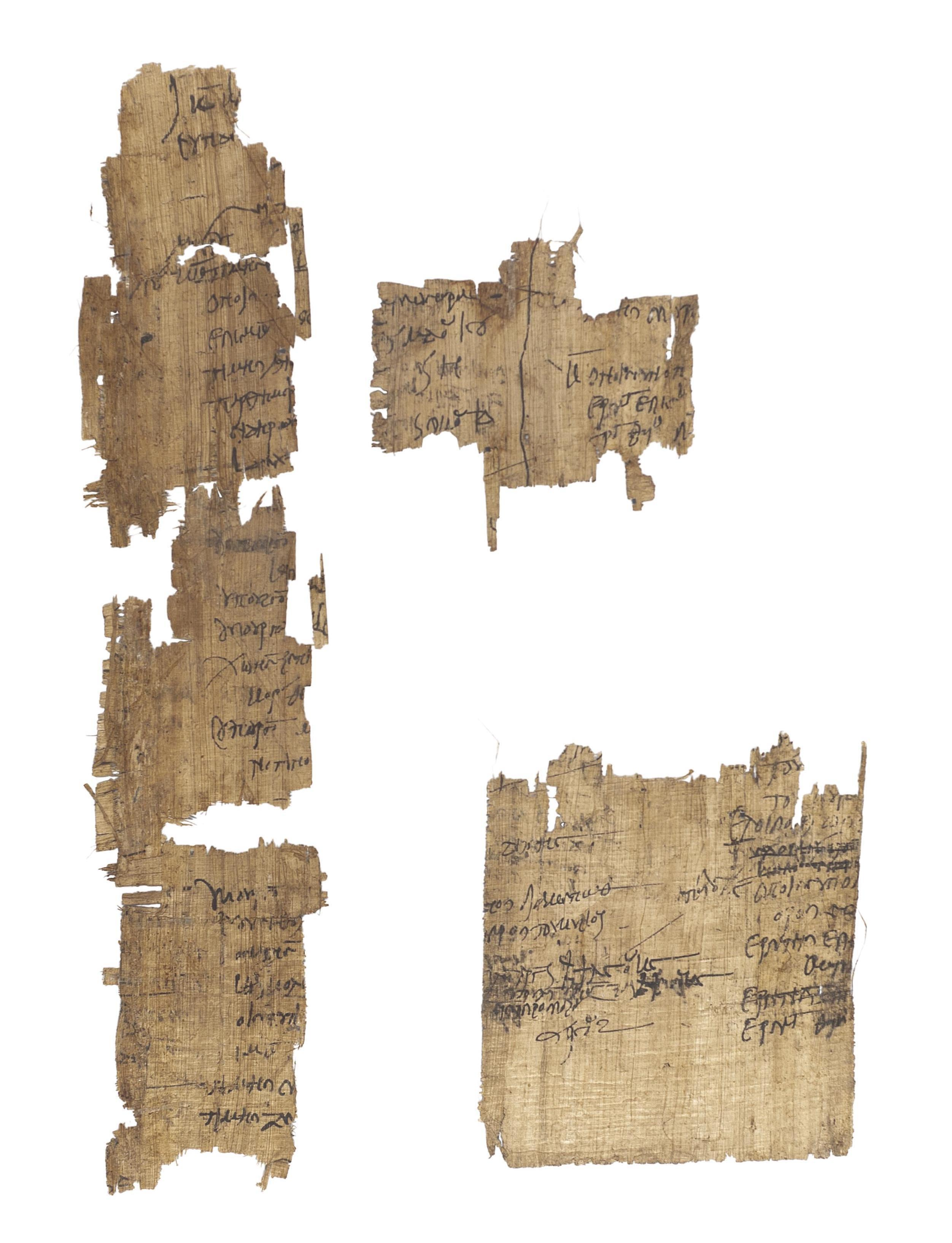 A COLLECTION OF GREEK AND COPTIC PAPYRI FRAGMENTS, [Egypt, 2nd to 4th century].