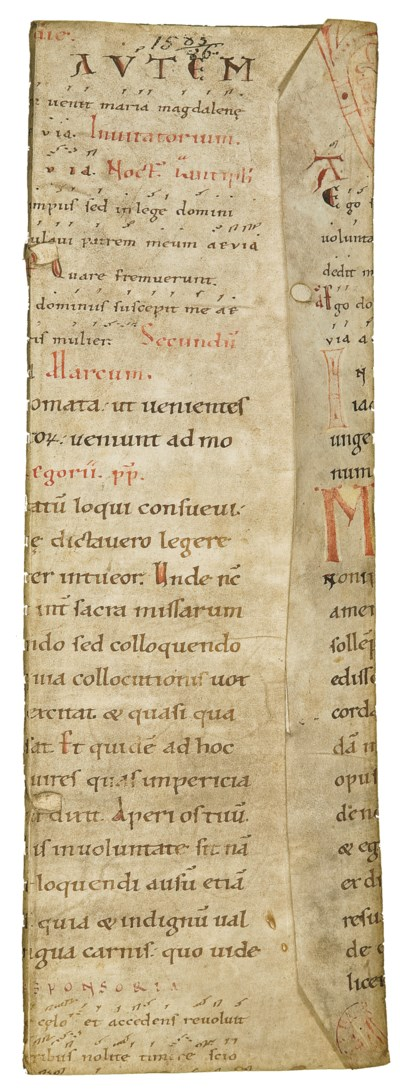 LEAF FROM A 12TH-CENTURY NOTED