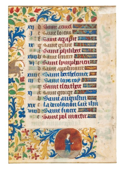TWO CALENDAR MINIATURES AND IN
