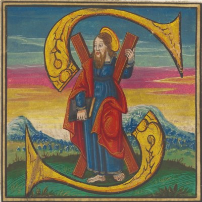 ST ANDREW, historiated initial