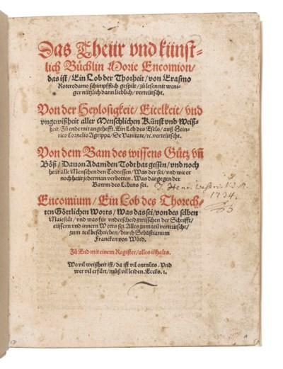 ERASMUS, Desiderius (?1466-153