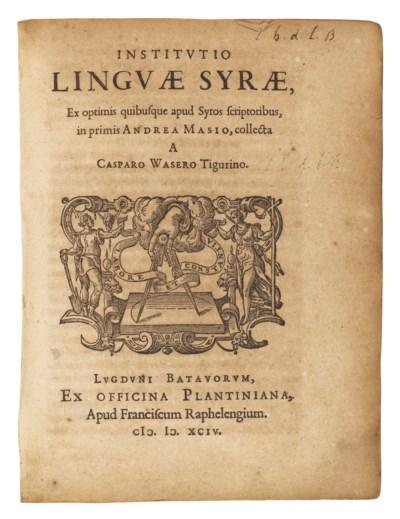 WASER, Kaspar (1565-1625). Ins