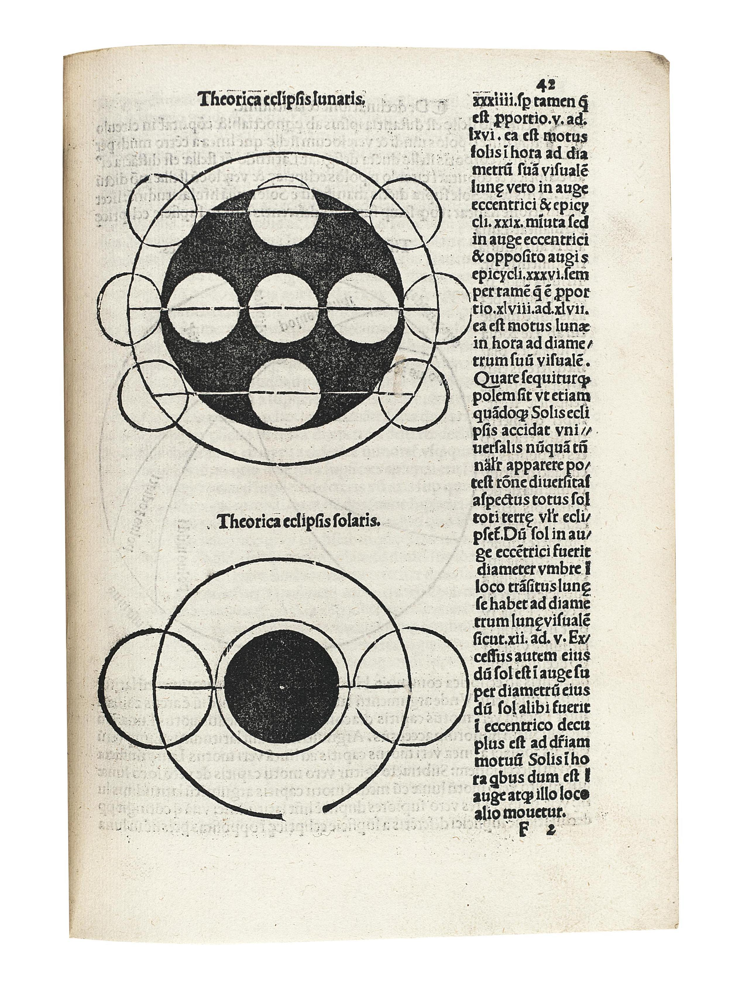 SACROBOSCO, Joannes de (fl.1230). Sphaera mundi. Venice: Jacobus Pentius de Leuco for M. Sessa, 24 December 1519. 4° (208 x 148mm). Fine woodcut on title of a seated astronomer flanked by two Muses, numerous woodcut illustrations and diagrams. (Title with some wear and repaired tears). 20th-century morocco gilt in period style, gilt edges. Provenance: Carolus ?Arpinus (title inscription, extensive marginalia and emendations, one on A3v dated 1521).