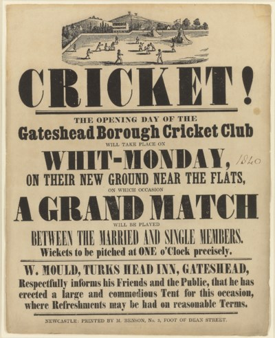 Cricket! The Opening Day of th