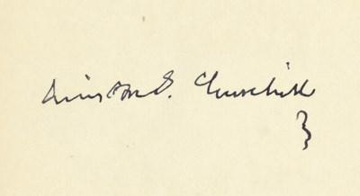 CHURCHILL, Winston S. Lord Ran