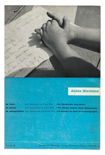 BIERMANN, Aenne. 60 Fotos. Fot