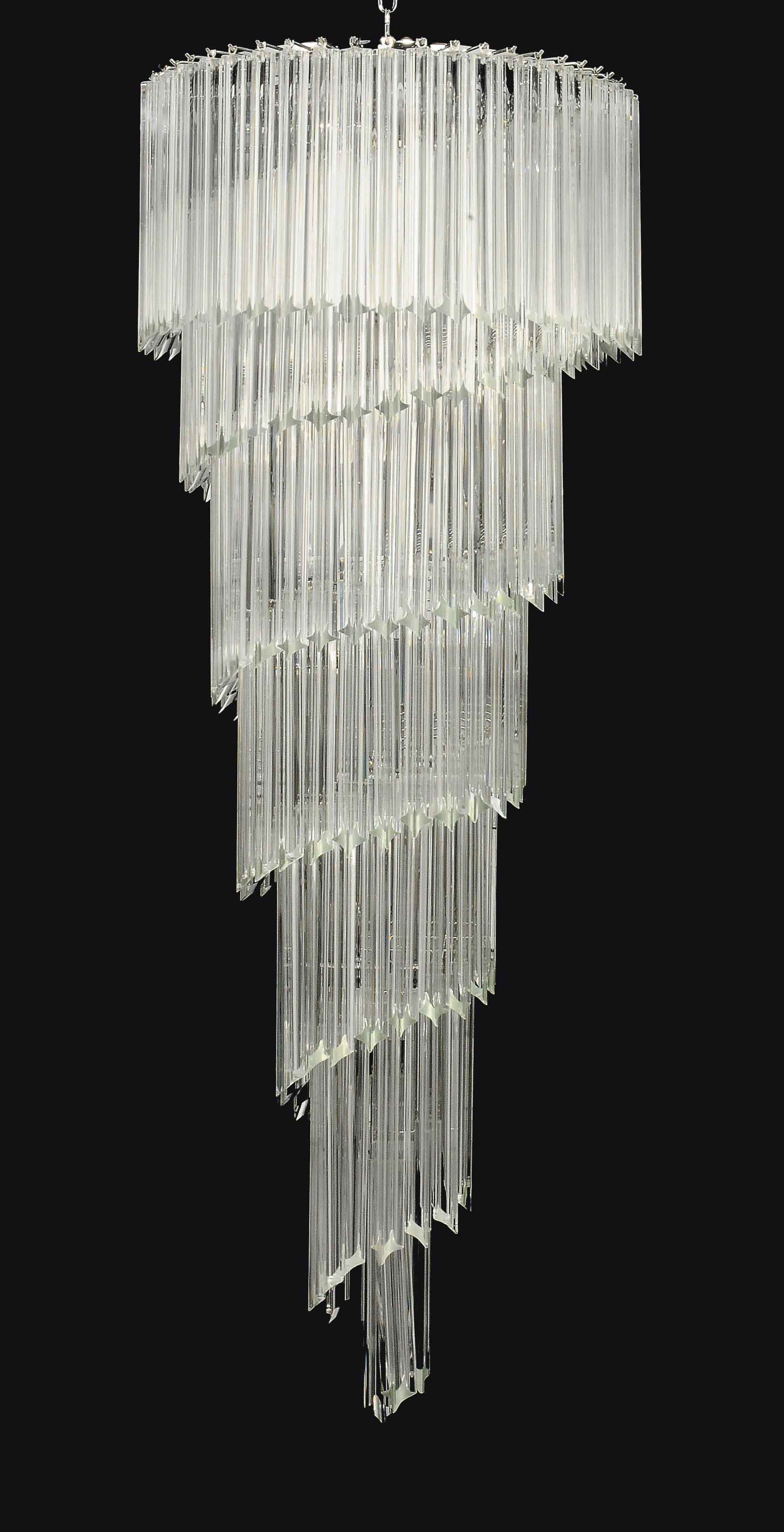 A venetian glass spiral chandelier modern in the manner of lot 156 arubaitofo Gallery