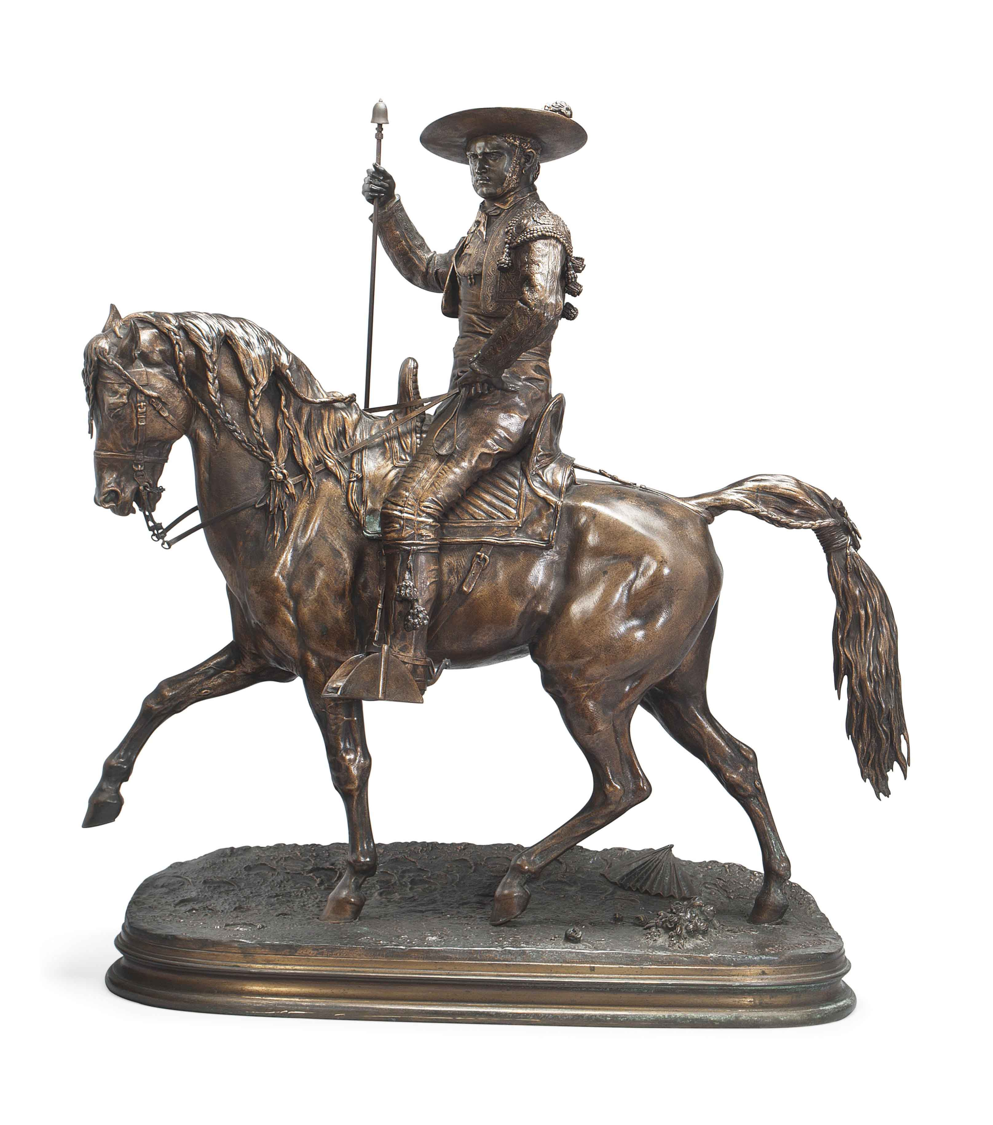 A FRENCH BRONZE MODEL OF A PICADOR