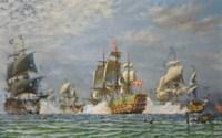 The battle of Koge Bay, Denmark