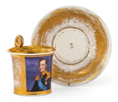 A RUSSIAN PORCELAIN CABINET-CU