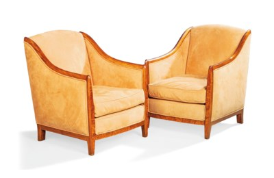 A PAIR OF ART DECO BEECH AND U
