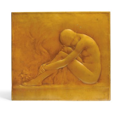 'ROMA 1913' A BRONZE PLAQUE BY