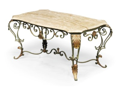 AN FRENCH ENAMELLED AND GILT-I