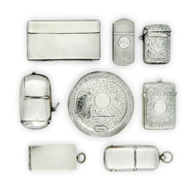 A GROUP OF SEVEN SILVER AND ON