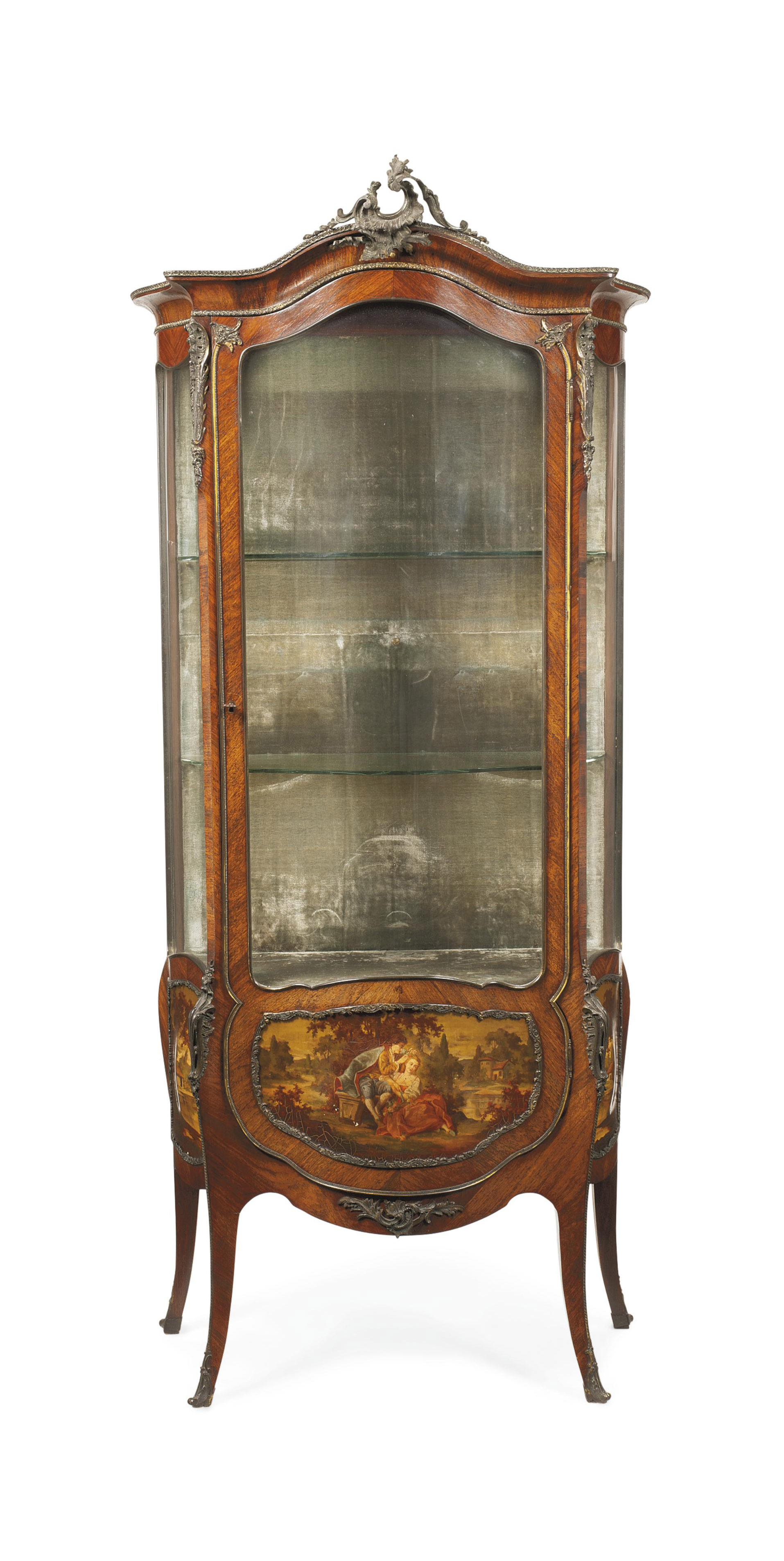A FRENCH KINGWOOD AND VERNIS MARTIN VITRINE | OF LOUIS XV STYLE ...