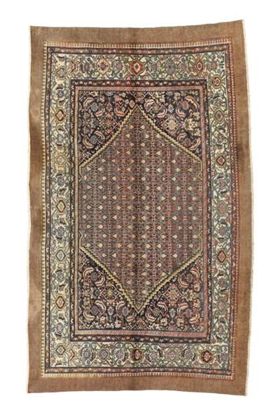 An antique Hamadan carpet