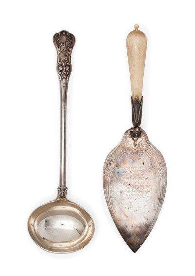 A VICTORIAN IVORY-HANDLED SILV